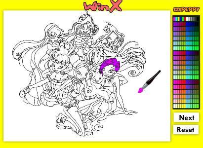Игра раскраски играть бесплатно для девочек