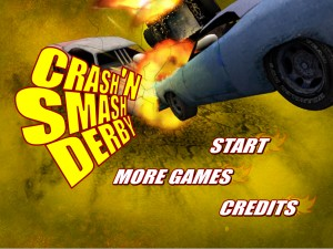 Demolition derby. Flash игры