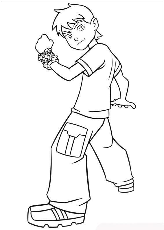 бен тен Ben 10 раскраска для мальчиков