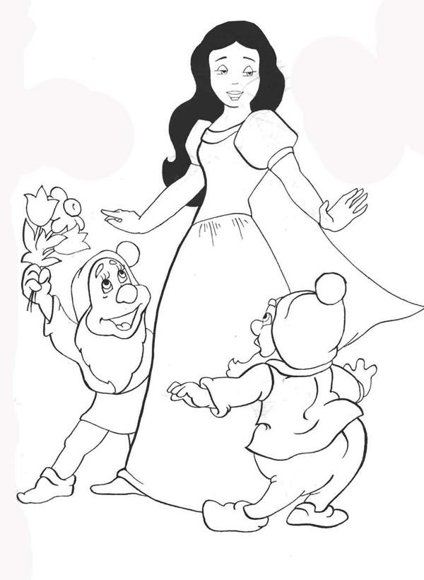 Белоснежка раскраски для девочек