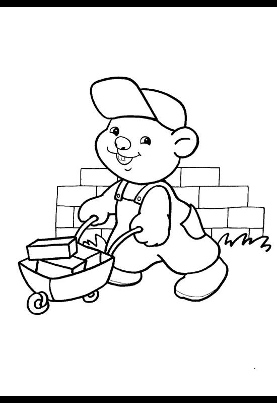 Бобёр строитель раскраски для
