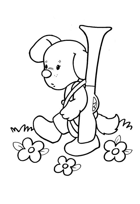 Собачка раскраски для малышей