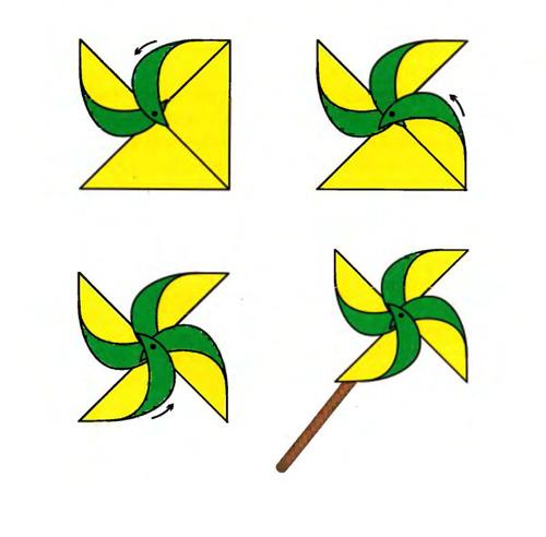 Вертушка поделки из бумаги для детей