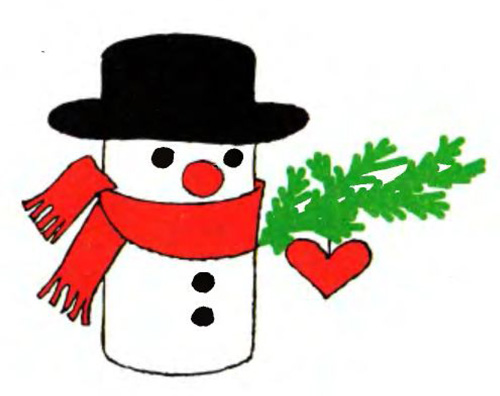 Снеговик из цветной бумаги своими руками поделка