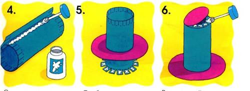 Схема как сделать цилиндр из картона
