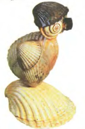 Филин - Поделки из ракушек