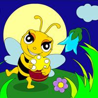 Раскрась пчёлку игры раскраски