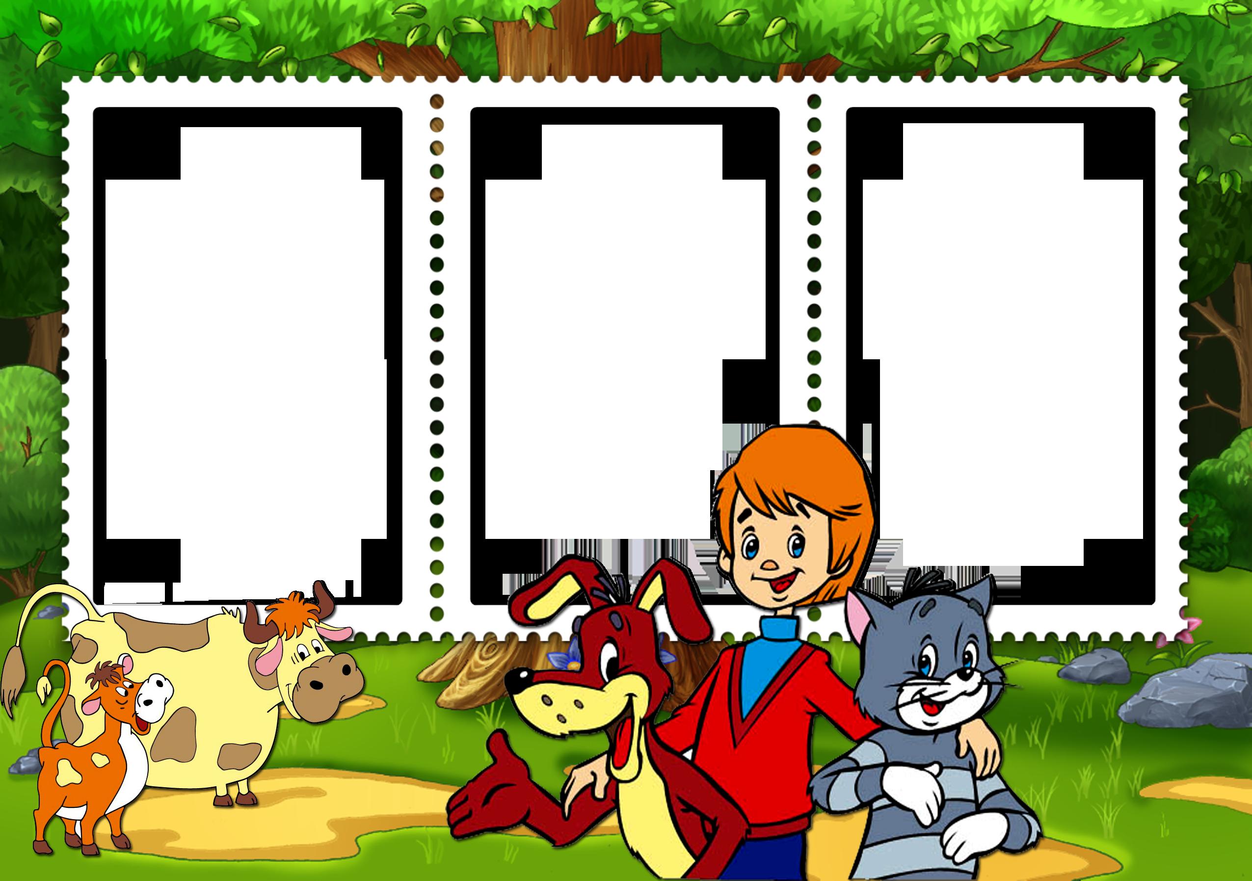 Детские фото рамки мультфильмы